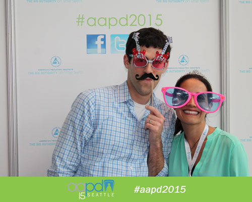 Dr. David and Dr. Patty from Portland Children's Dentistry being silly at the AAPD event in Seattle.