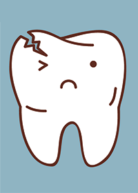 Illustration of a cracked tooth at Portland Children's Dentistry in Portland, Oregon